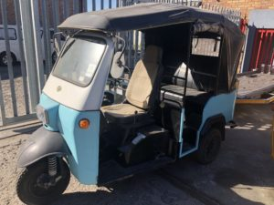 rent a tuktuk in cape town for shoot