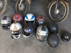 variety of helmets available for movies